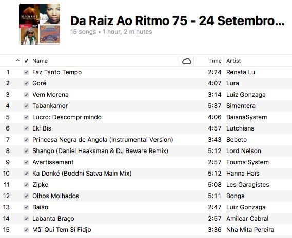 da-raiz-ao-ritmo-24-setembro-2017-playlist