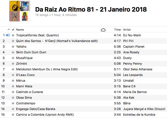 da-raiz-ao-ritmo-21-janeiro-2018-playlist