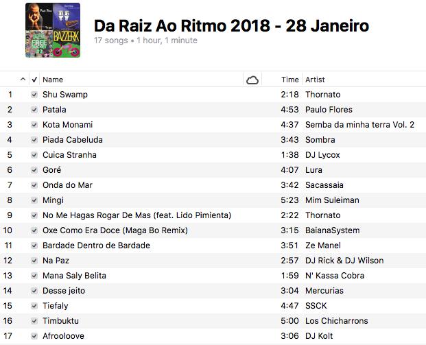 da-raiz-ao-ritmo-28-janeiro-2018-playlist